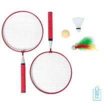 Badmintonset goedkoop bedrukt rood