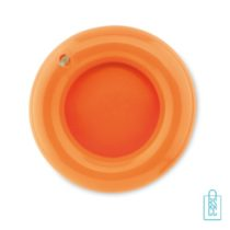 Frisbee opblaasbaar bedrukken oranje
