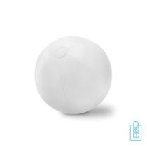 Opblaasbare strandbal groot bedrukt wit