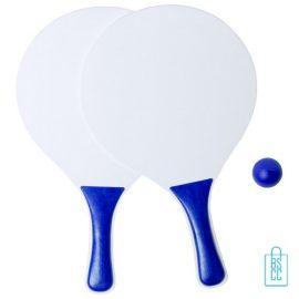 Strand tennisset goedkoop bedrukken blauw