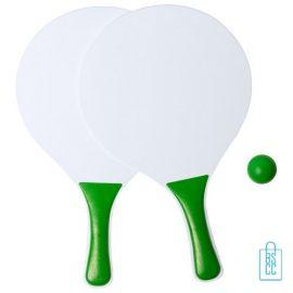 Strand tennisset goedkoop bedrukken groen