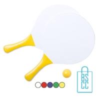 Strand tennisset goedkoop bedrukken met logo