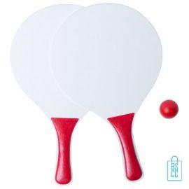Strand tennisset goedkoop bedrukken rood