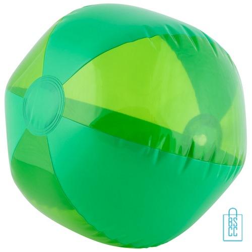 Strandbal transparant ø 26 cm bedrukken groen