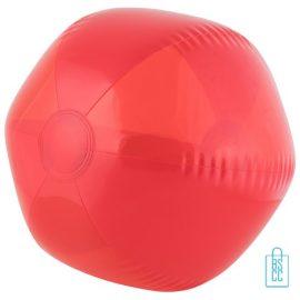 Strandbal transparant ø 26 cm bedrukken rood