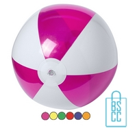 Strandbal transparant gekleurd ø 28 cm bedrukken goedkoop