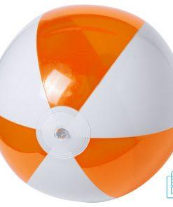 Strandbal transparant gekleurd ø 28 cm bedrukken wit oranje