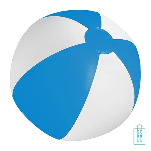 Strandbal voordelig ø 28 cm bedrukken blauw wit
