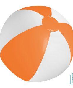 Strandbal voordelig ø 28 cm bedrukken wit oranje