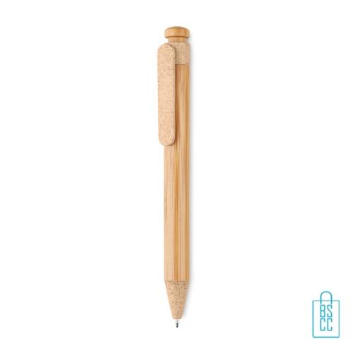 Bamboe pen bedrukken oranje