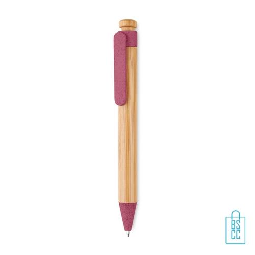 Bamboe pen bedrukken roze goedkoop