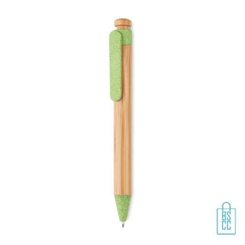 Bamboe pen bedrukt goedkoop groen