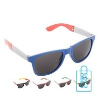 Opvouwbare plastic zonnebril bedrukt landen