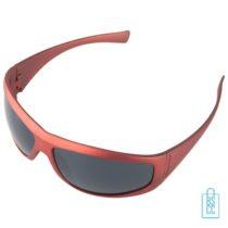 Zonnebril cool sportief bedrukken rood