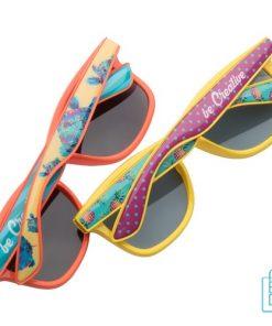 Zonnebril doming goedkoop bedrukken met eigen opdruk
