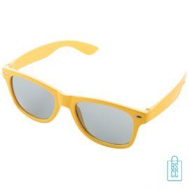 Zonnebril doming goedkoop bedrukt gele