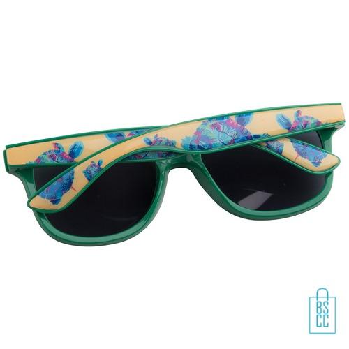 Zonnebril doming goedkoop bedrukt groen