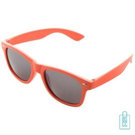 Zonnebril doming goedkoop bedrukt oranje