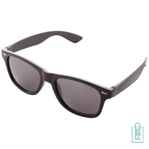 Zonnebril doming goedkoop bedrukt zwarte