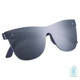 Zonnebril frameloos hip glanzend bedrukken zwart