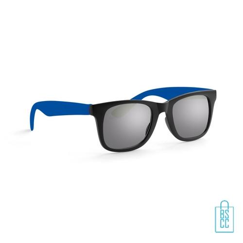 Zonnebril klassiek gekleurd bedrukt blauw