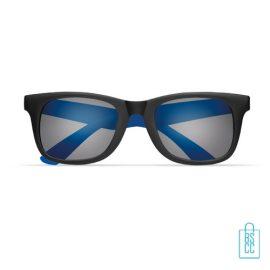 Zonnebril klassiek gekleurd bedrukt blauwe