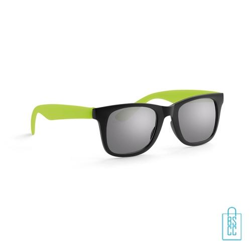 Zonnebril klassiek gekleurd bedrukt groen