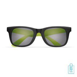 Zonnebril klassiek gekleurd bedrukt groene