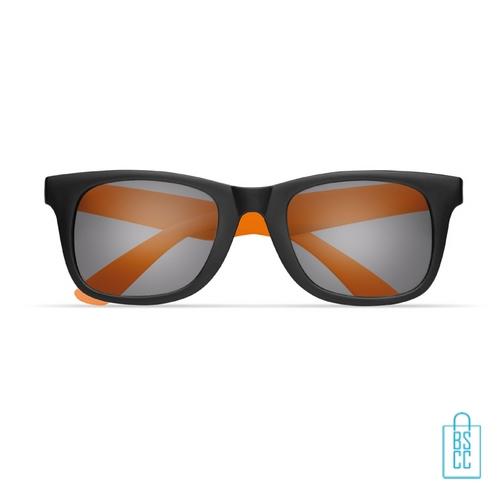 Zonnebril klassiek gekleurd bedrukt oranje kleur