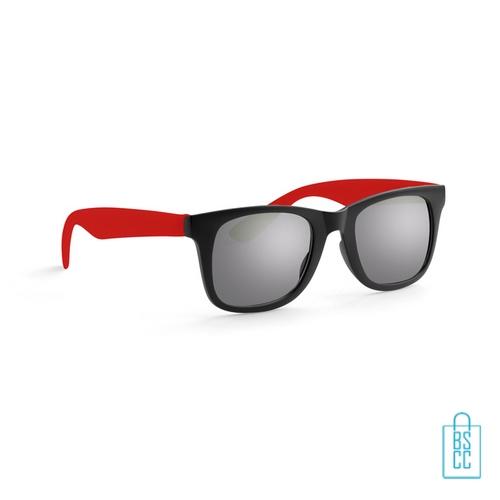 Zonnebril klassiek gekleurd bedrukt rode