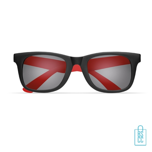 Zonnebril klassiek gekleurd bedrukt rood