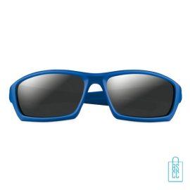 Zonnebril sportief bedrukken blauw