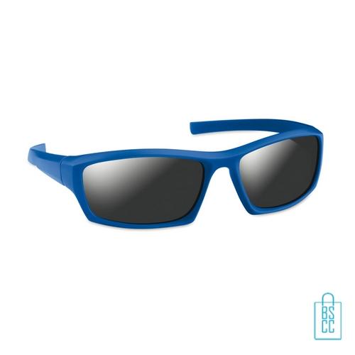 Zonnebril sportief bedrukken blauwe