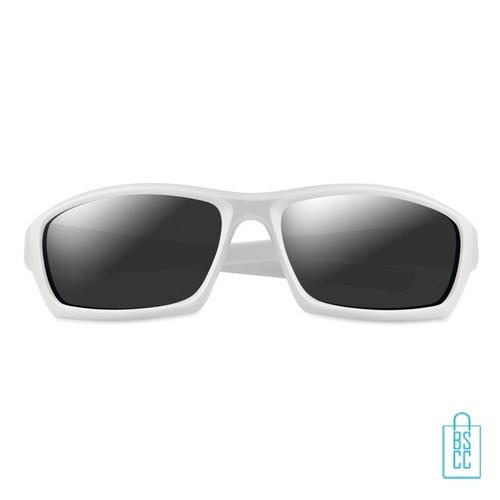 Zonnebril sportief bedrukken wit