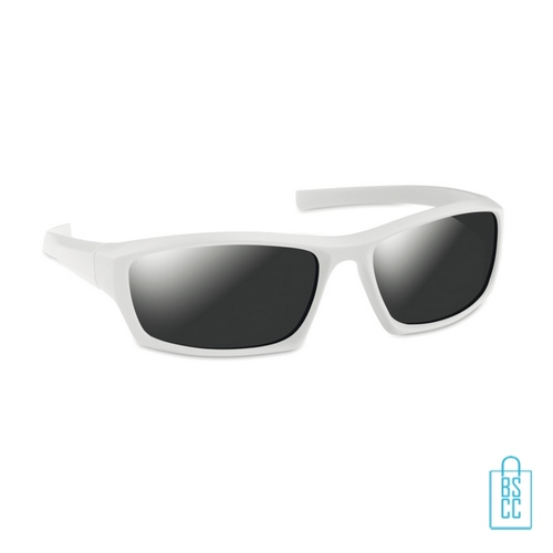 Zonnebril sportief bedrukken witte