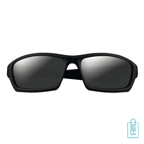 Zonnebril sportief bedrukken zwart