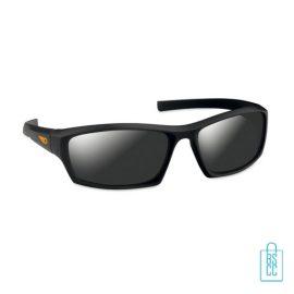 Zonnebril sportief bedrukken zwarte