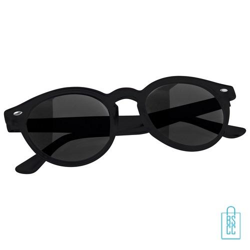 Zonnebril transparant bedrukken goedkoop zwart
