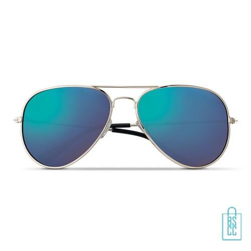 Zonnebril zakje inclusief bedrukken aviator blauw