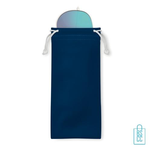 Zonnebril zakje inclusief bedrukken aviator blauwe