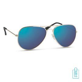 Zonnebril zakje inclusief bedrukken blauw