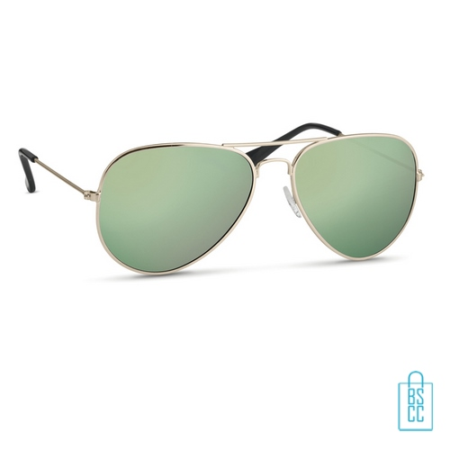 Zonnebril zakje inclusief bedrukken groen