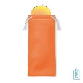 Zonnebril zakje inclusief bedrukken oranje aviator