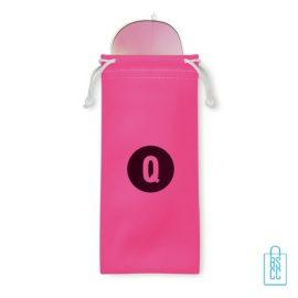 Zonnebril zakje inclusief bedrukken roze