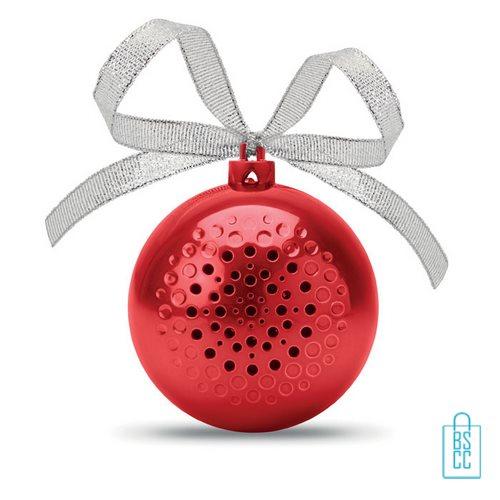 Kerstbal bluetooth goedkoop bedrukken rode, kerst relatiegeschenken
