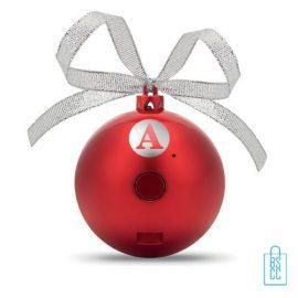 Kerstbal bluetooth goedkoop bedrukken rood, kerst relatiegeschenken
