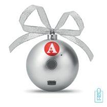 Kerstbal bluetooth goedkoop bedrukken zilveren