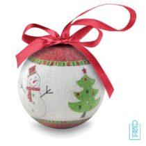 Kerstbal geschenk kerstboom groen bedrukken goedkoop