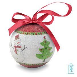 Kerstbal geschenk kerstboom groen bedrukken goedkoop, kerst relatiegeschenken