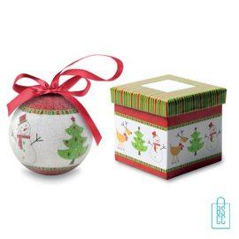 Kerstbal geschenk kerstboom groen bedrukt, kerst relatiegeschenken